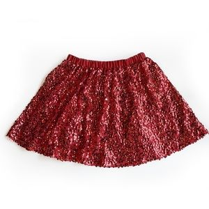 Red Sequence Skirt